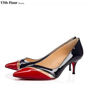 👠CHRISTIAN LOUBOUTIN 17th Floor 55mm Navy/Red ISO